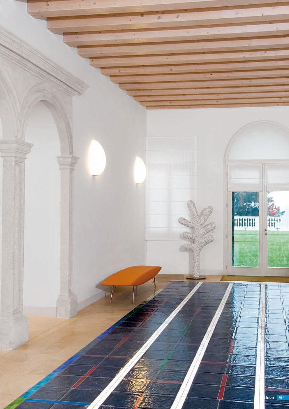 Fontana Arte Uovo Applique bianco 26x13x40cm 1x70w 3633-1 ...