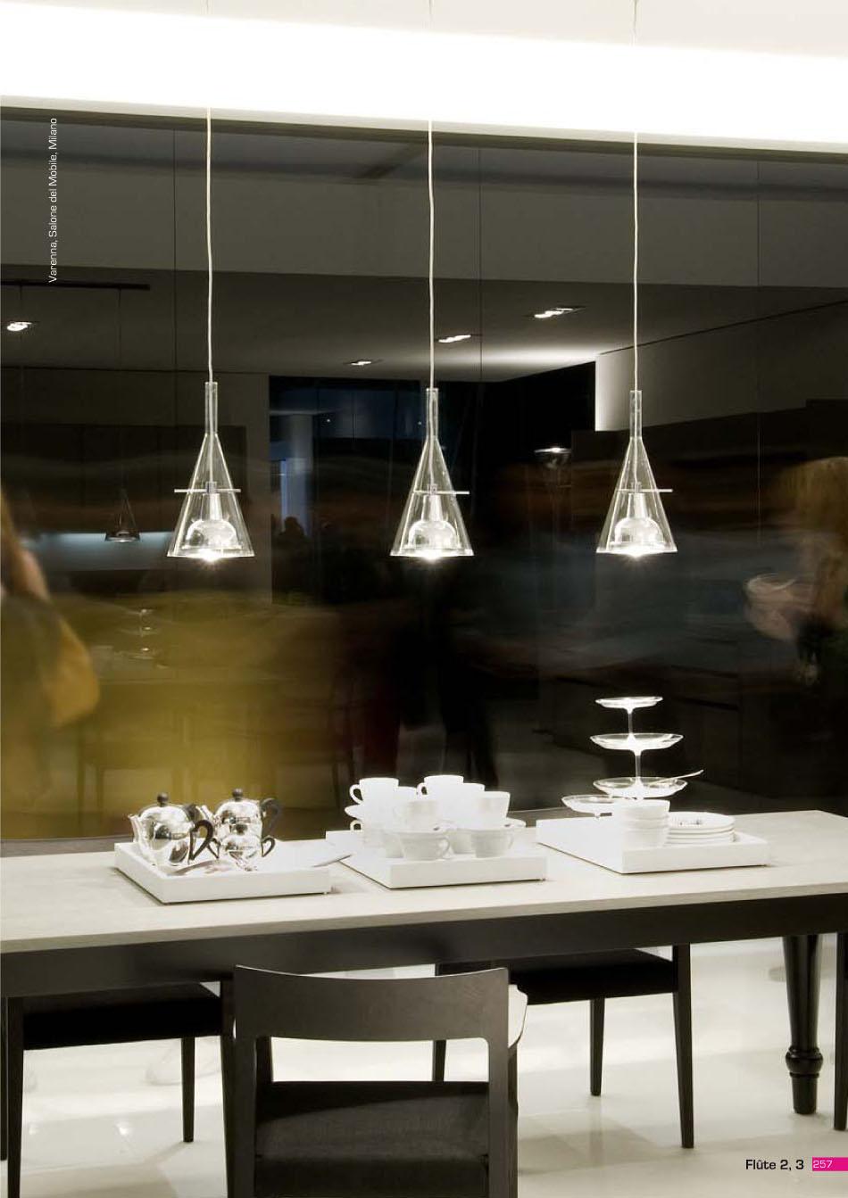Fontana Arte Flute Lámpara Colgante Doble 3337-2 - Lámparas de diseño