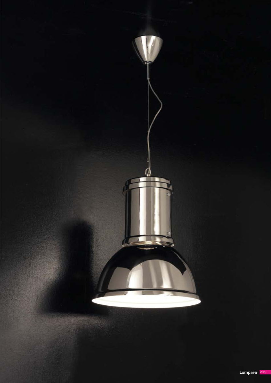 Fontana arte l mpara colgante aluminio natural 5000 1an - Lamparas de diseno italiano ...