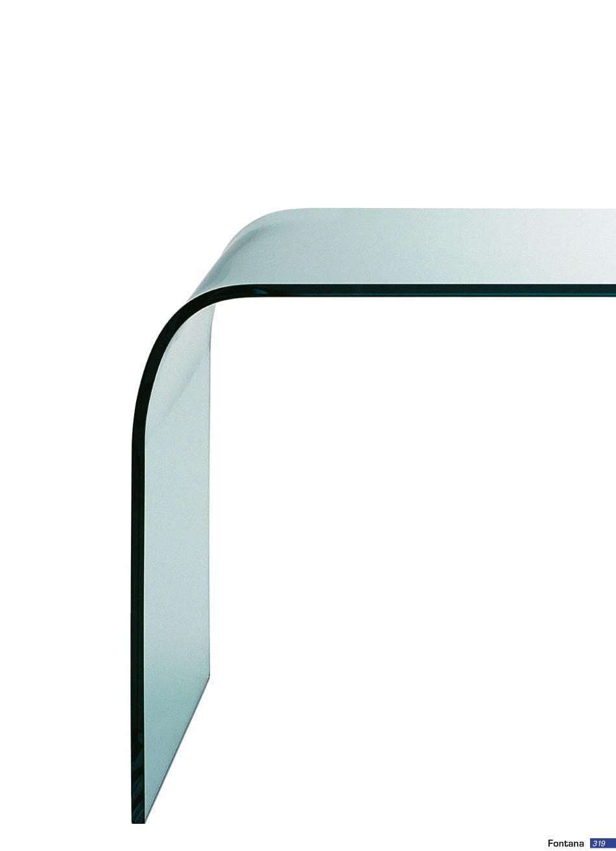 Fontana Arte Fontana tavolo Vetro curvado e biselado 2633 ...