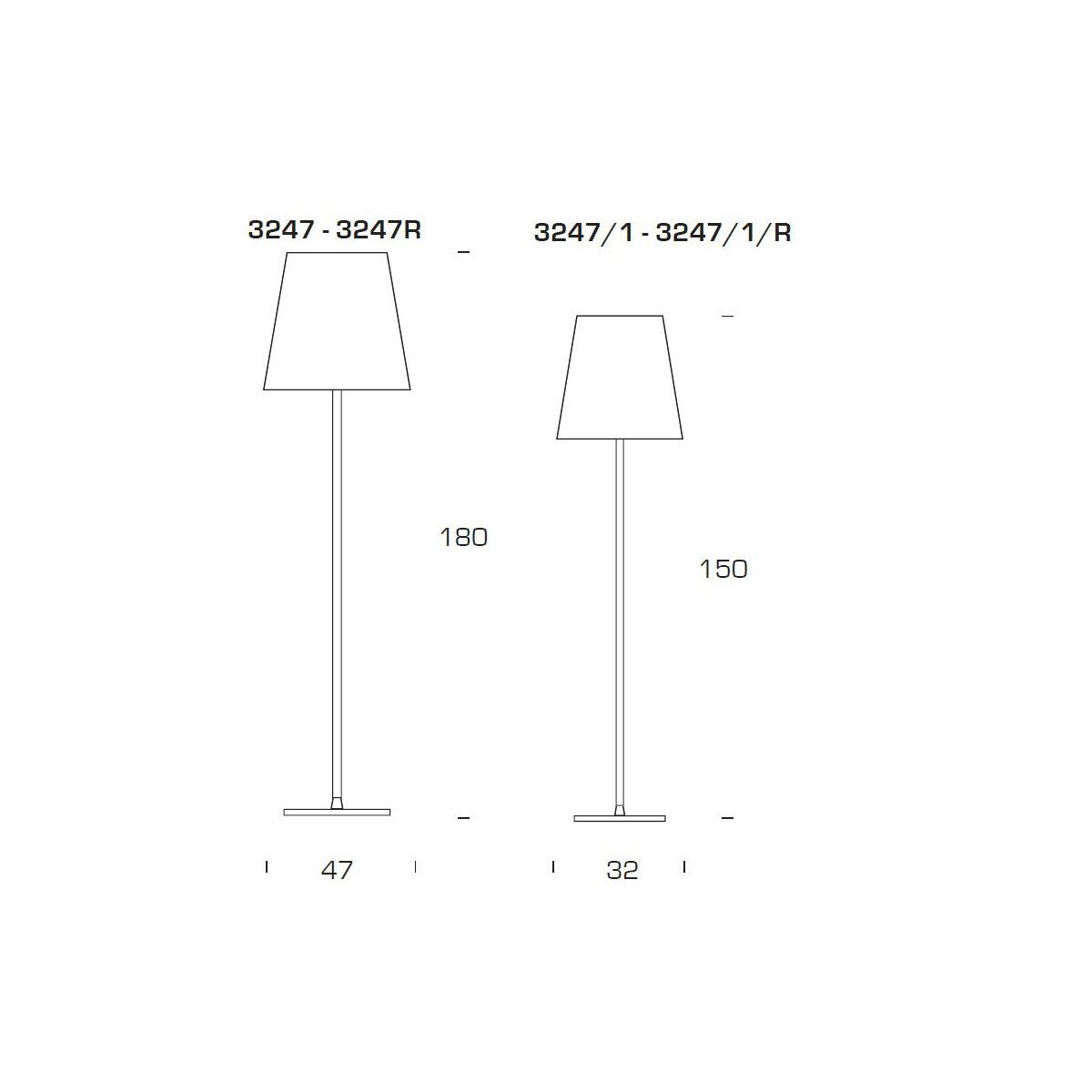fontana arte 3247 l mpara de pie blanco 32x150cm 3247 1 l mparas de dise o. Black Bedroom Furniture Sets. Home Design Ideas