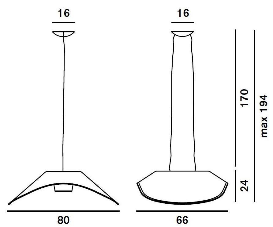 Foscarini Fly Fly Pendant Lamp Halogen 1x230w R7s 180007