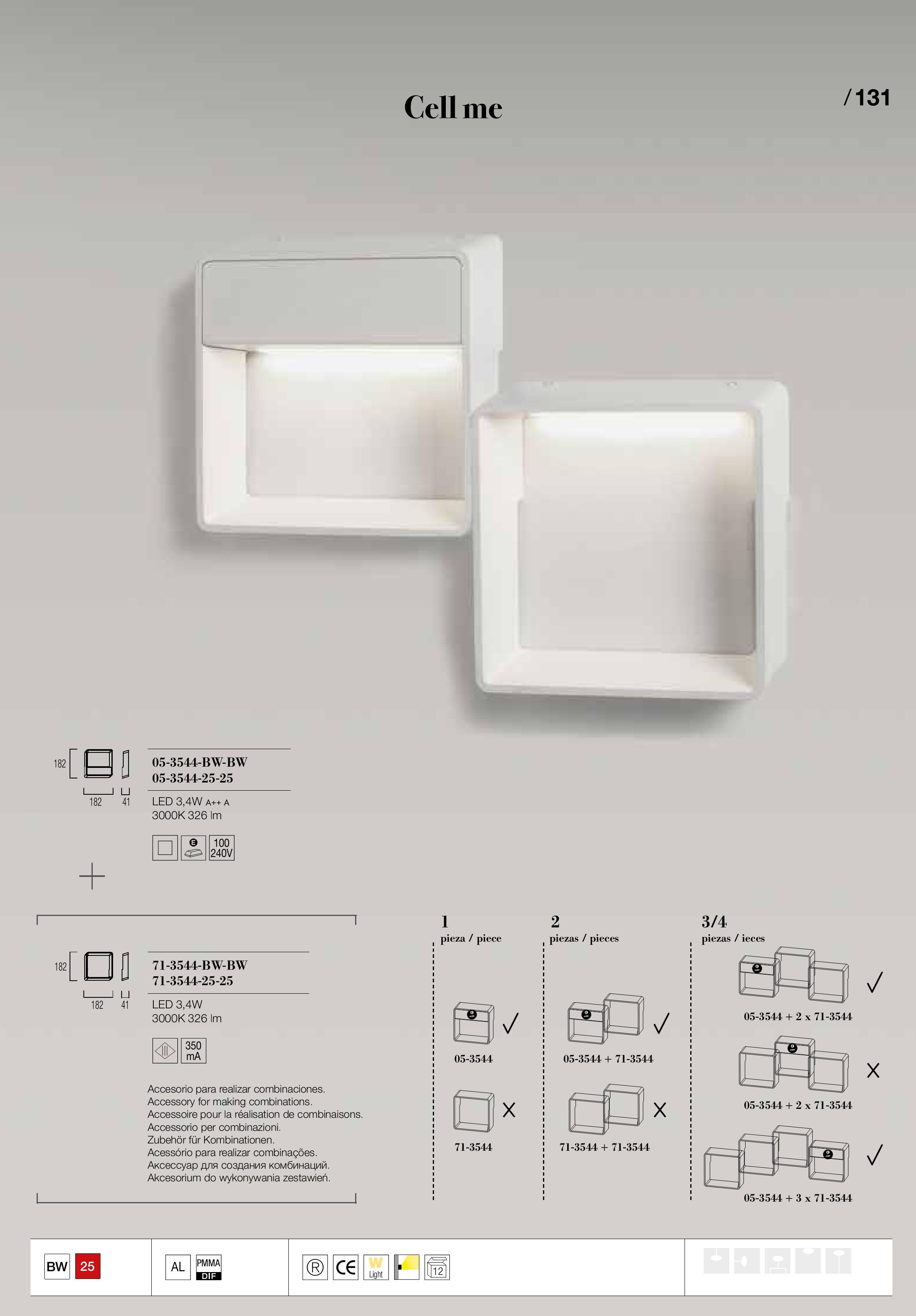 Cell Me Aplique LED 3,4W - Aluminio Rojo Grok Foto