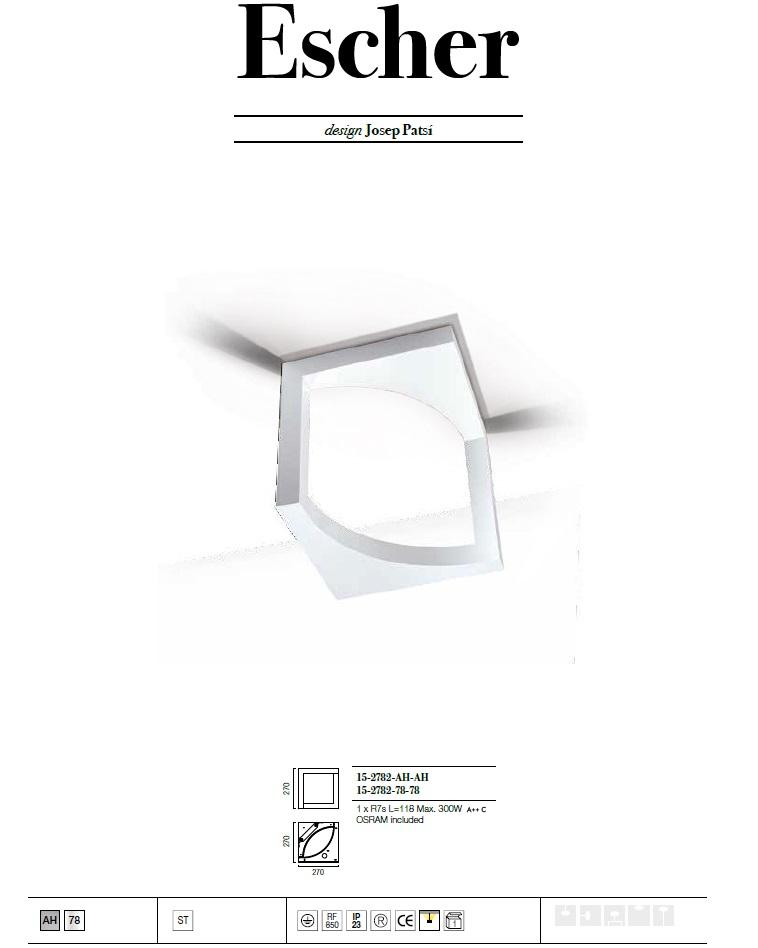 Escher Plafón 1xR7s 230W - Aluminio Ecobright Grok Foto