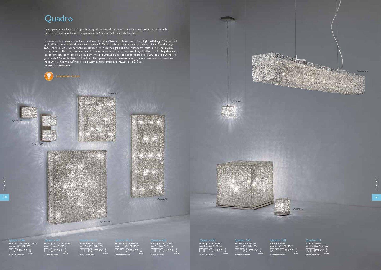 Ideal lux quadro lampada da tavolo tl8 8xg9 40w 09995 - Tavolo quadro a parete ...