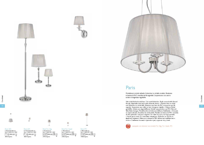 Ideal lux paris wall lamp ap1 1xe14 40w silver 18027 for Ideal paris