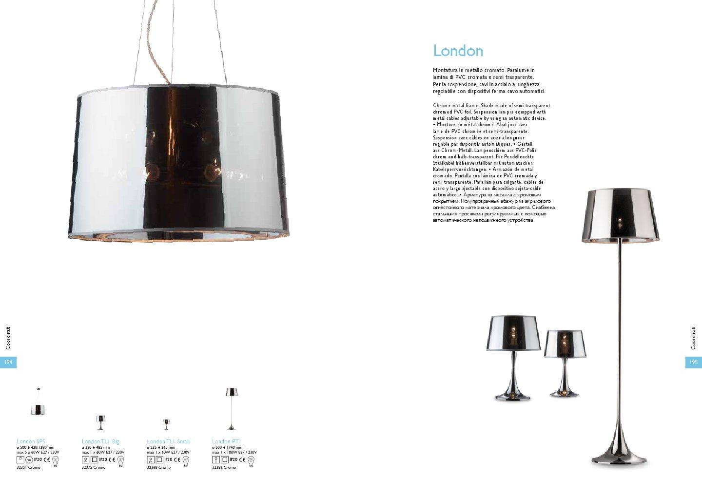 Ideal lux london lampada da tavolo tl1 grande 32375 - Ideal lux lampade da tavolo ...