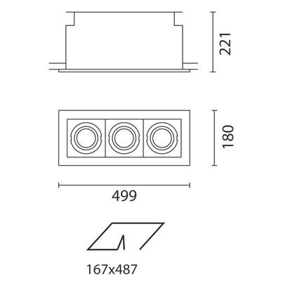 iguzzini deep frame incasso orientabile di 3 l mparas de dise o. Black Bedroom Furniture Sets. Home Design Ideas