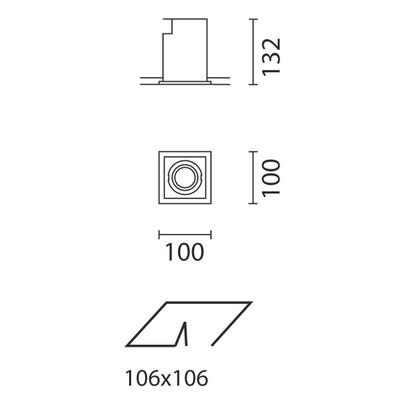 iguzzini deep minimal recessed adjustable 35w hi l mparas de dise o. Black Bedroom Furniture Sets. Home Design Ideas