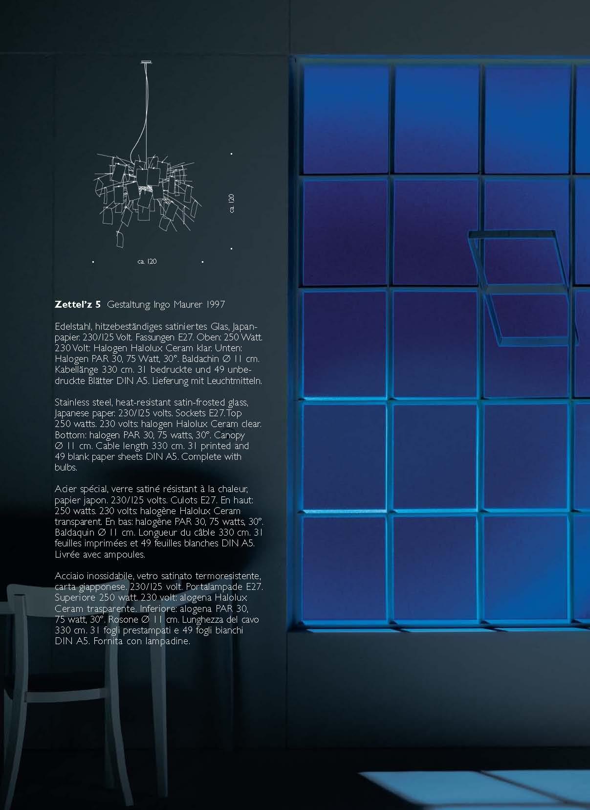 ingo maurer zettel z5 pendant lamp 120x120cm mau115000 l mparas de dise o. Black Bedroom Furniture Sets. Home Design Ideas