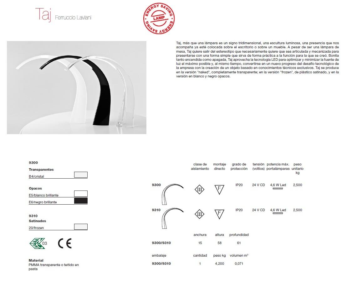 Kartell taj table lamp transparentopaco 9300 - Table de nuit kartell ...