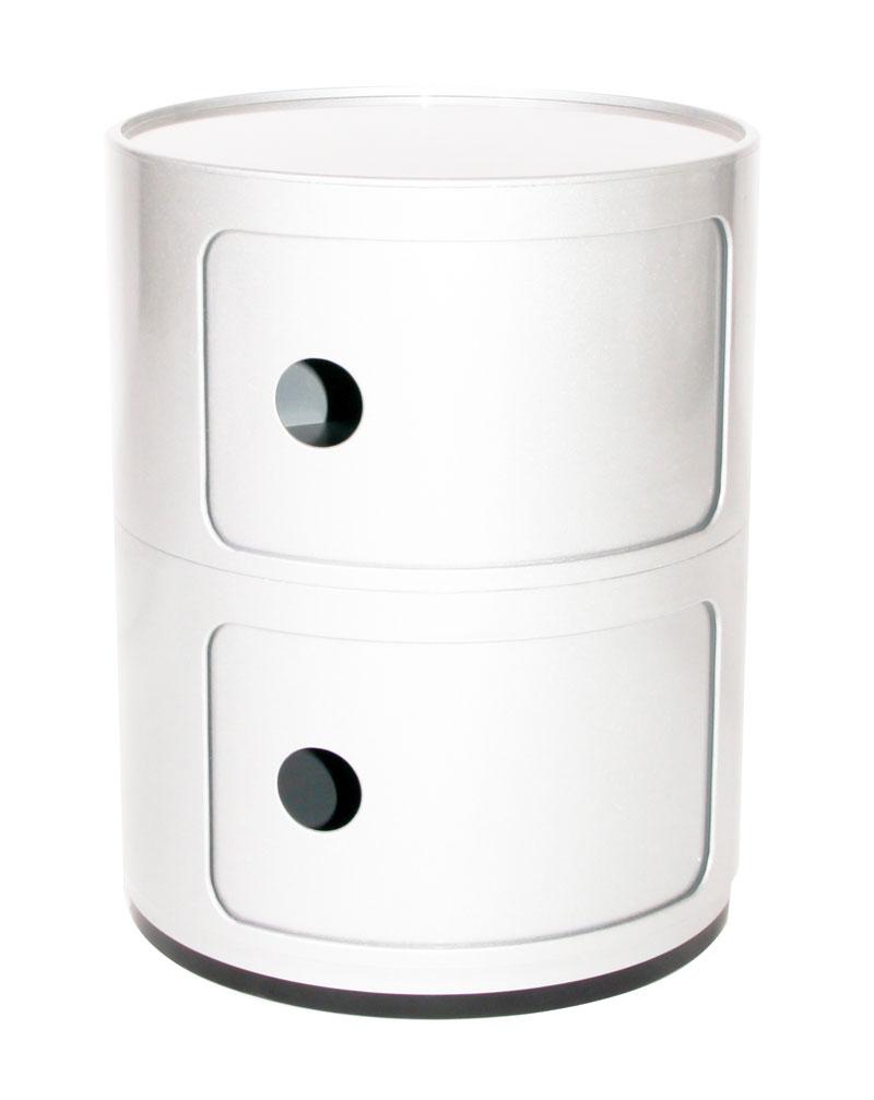 kartell componibili m dulo redondo doble con puertas 40cm 4966. Black Bedroom Furniture Sets. Home Design Ideas
