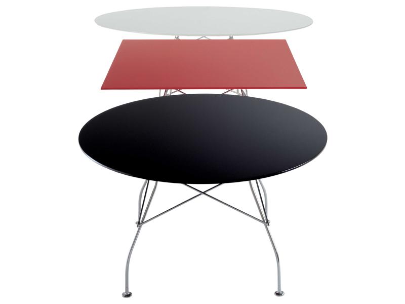 Kartell glossy tavolo quadrato gambe acciaio 4560 lámparas de diseño