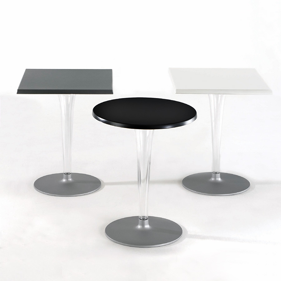 Kartell toptop table round leg square 70 4292 l mparas for Table kartell