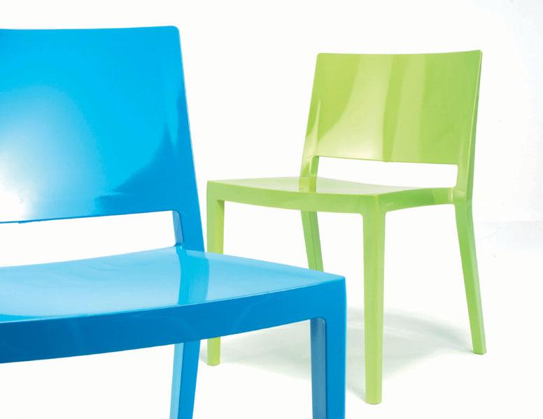 Kartell lizz chair packaging of 2 units 4868 lámparas de diseño