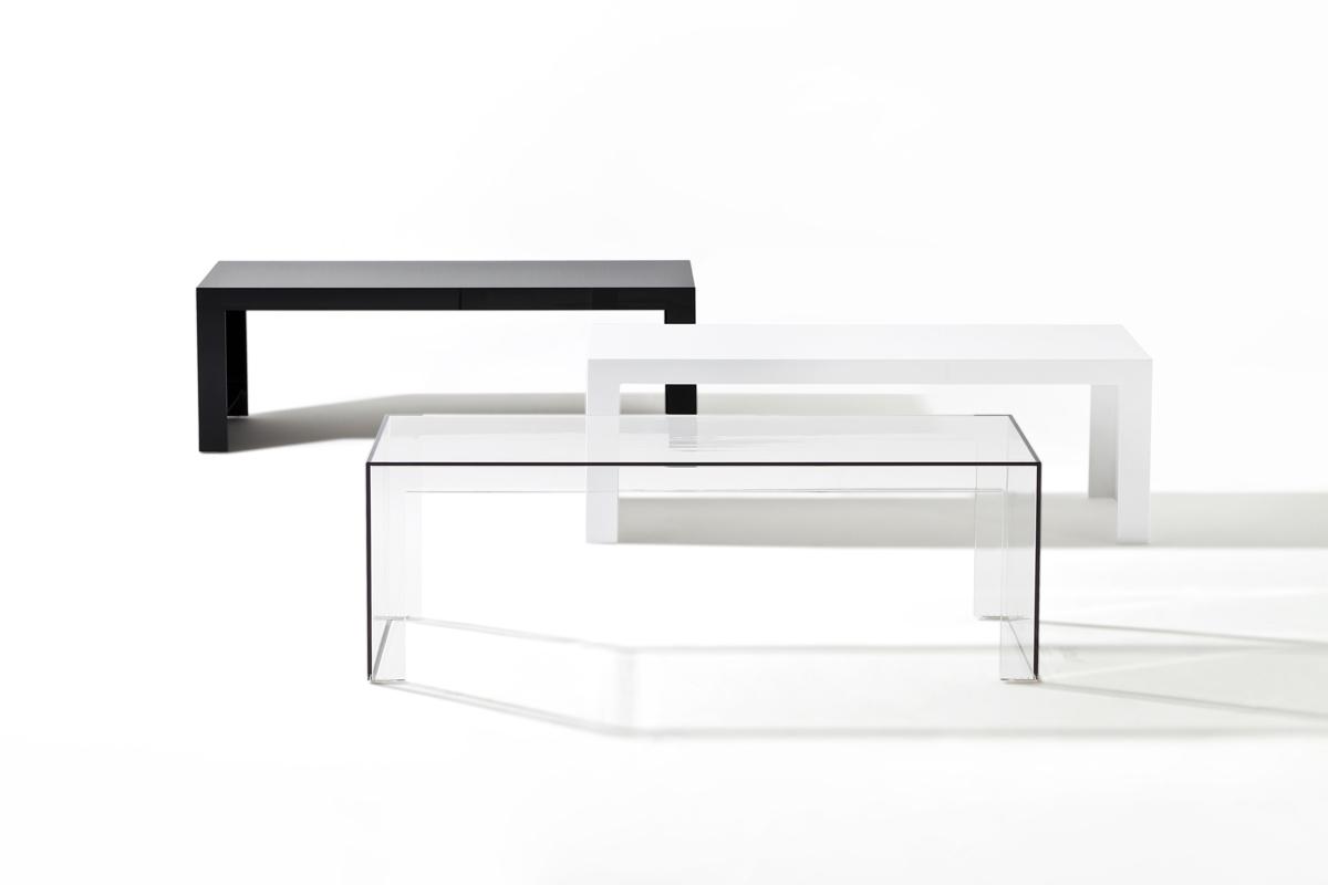 kartell invisible side table rectangular 31 5cm 5005. Black Bedroom Furniture Sets. Home Design Ideas
