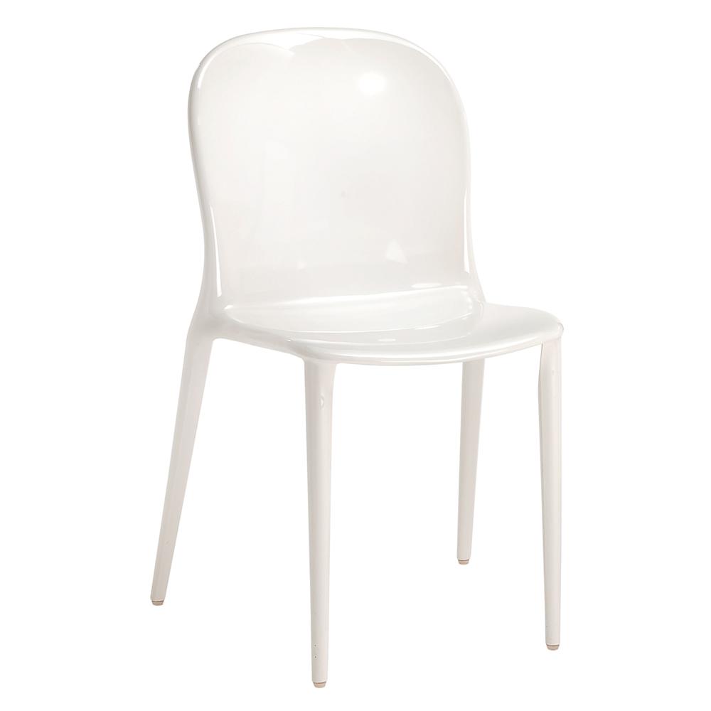 kartell thalya chair opaca white xcm  -  imagen  de thalya chair opaca white xcm