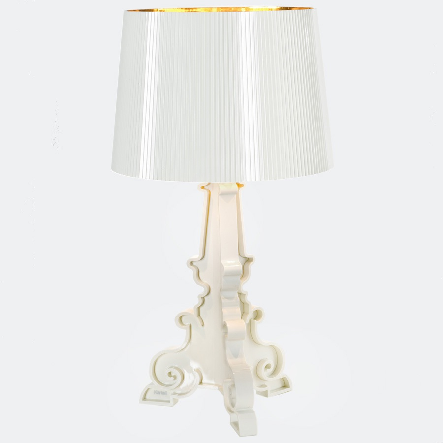 kartell bourgie table lamp white golden with 9076. Black Bedroom Furniture Sets. Home Design Ideas