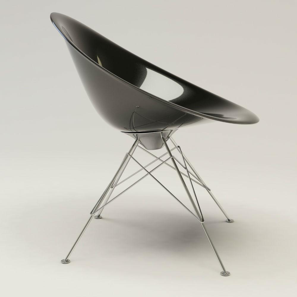 Kartell eros sedia con struttura di acciaio 4837 - Sedia eros kartell ...
