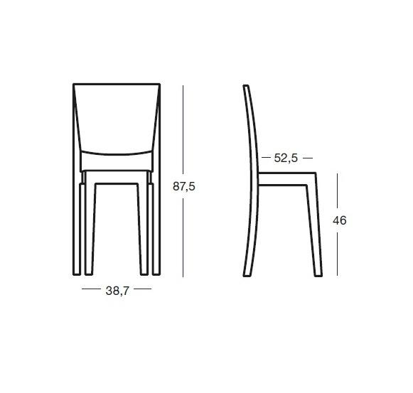 kartell la marie chaise transparent 4 unit s 4851 l mparas de dise o. Black Bedroom Furniture Sets. Home Design Ideas