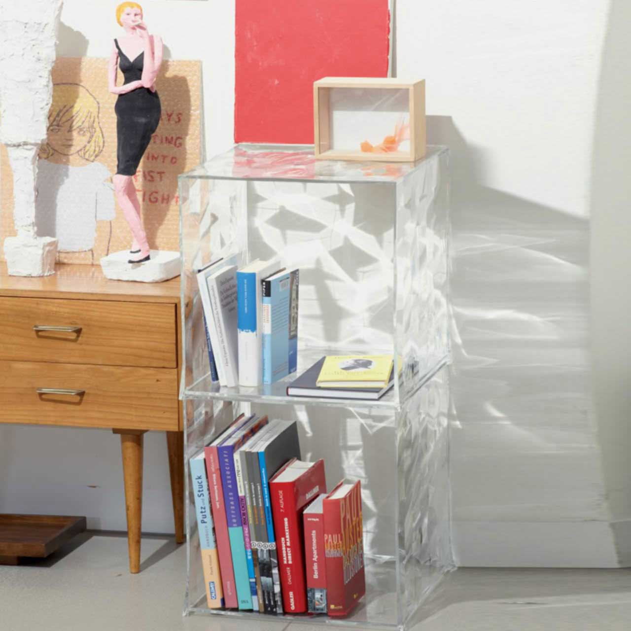 kartell optic container box ohne t r 3500 l mparas de dise o. Black Bedroom Furniture Sets. Home Design Ideas