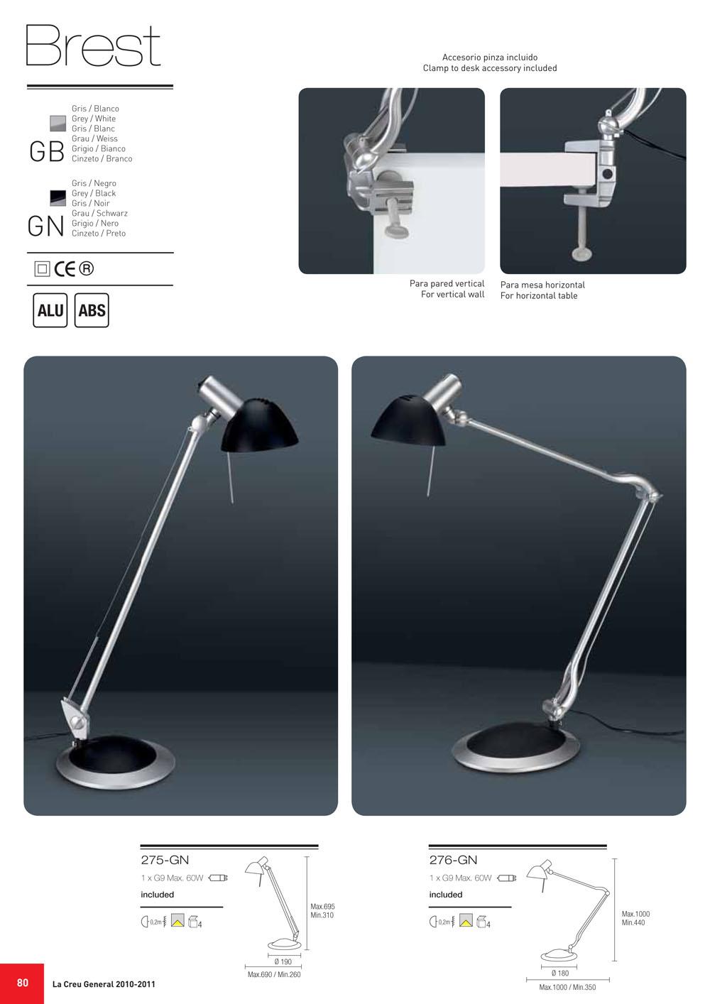 la creu table lamp brest ii 276 gn l mparas de dise o. Black Bedroom Furniture Sets. Home Design Ideas