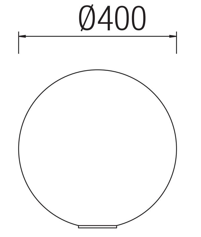 Cisne Lámpara de Exterior ø40cm 1xE27 / 1 x PL elect E27 blanco Leds C4 Foto