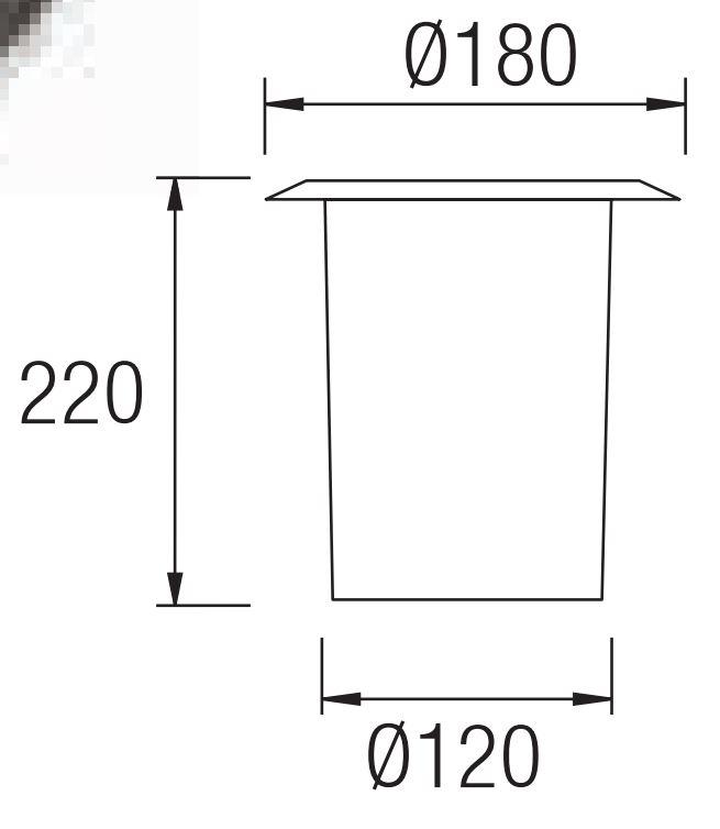 Gea Empotrable suelo 18x22cm E27 acero Inoxidable AISI 304 Leds C4 Foto