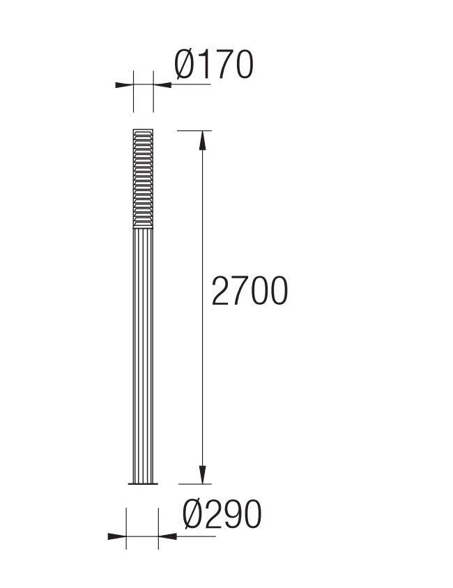 Temis Farola Completa 29x270cm 4x2G11 55w gris Leds C4 Foto