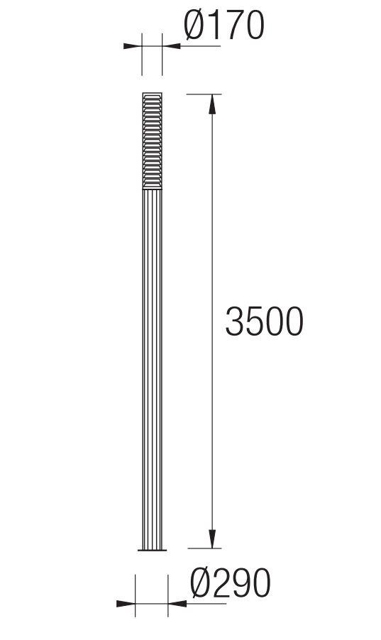 Temis Streetlight Complete 29x350cm 4x2G11 55w Grey Leds C4 Image