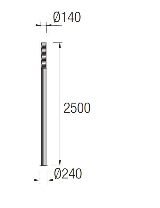 Temis Farola Completa 24x250cm 2xGX24q 4 gris Leds C4 Foto