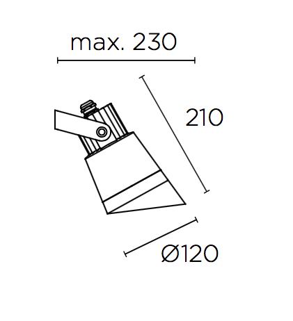 Hubble Applique Esterna 20x47x34cm G12 150W HID Grigio Leds C4 Immagine