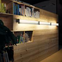 Continua 150 Wall lamp 150cm T5 35w White linen