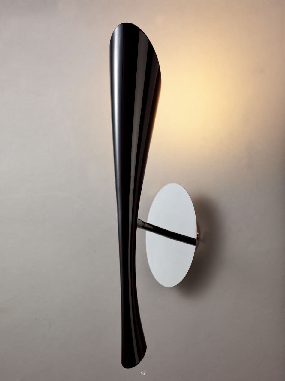 Wall Lamps Black : Mantra Pop Wall Lamp Lacquered Black 1L 0903