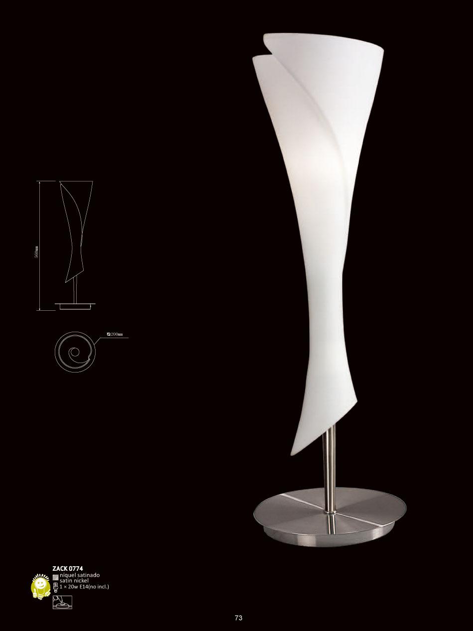 Mantra Zack Table Lamp Nickel Satin 1L 0774