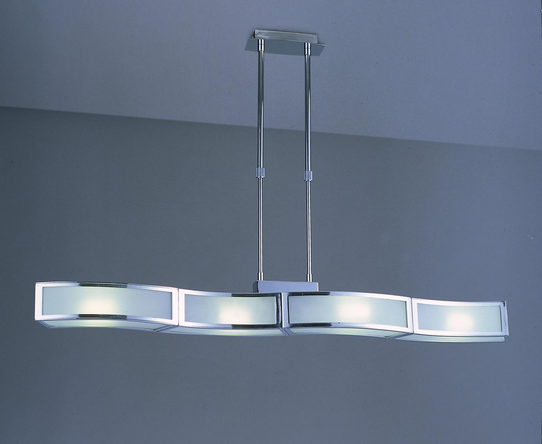 Mantra duna l mpara colgante lineal cromo 4l 0386 - Diseno lamparas colgantes ...