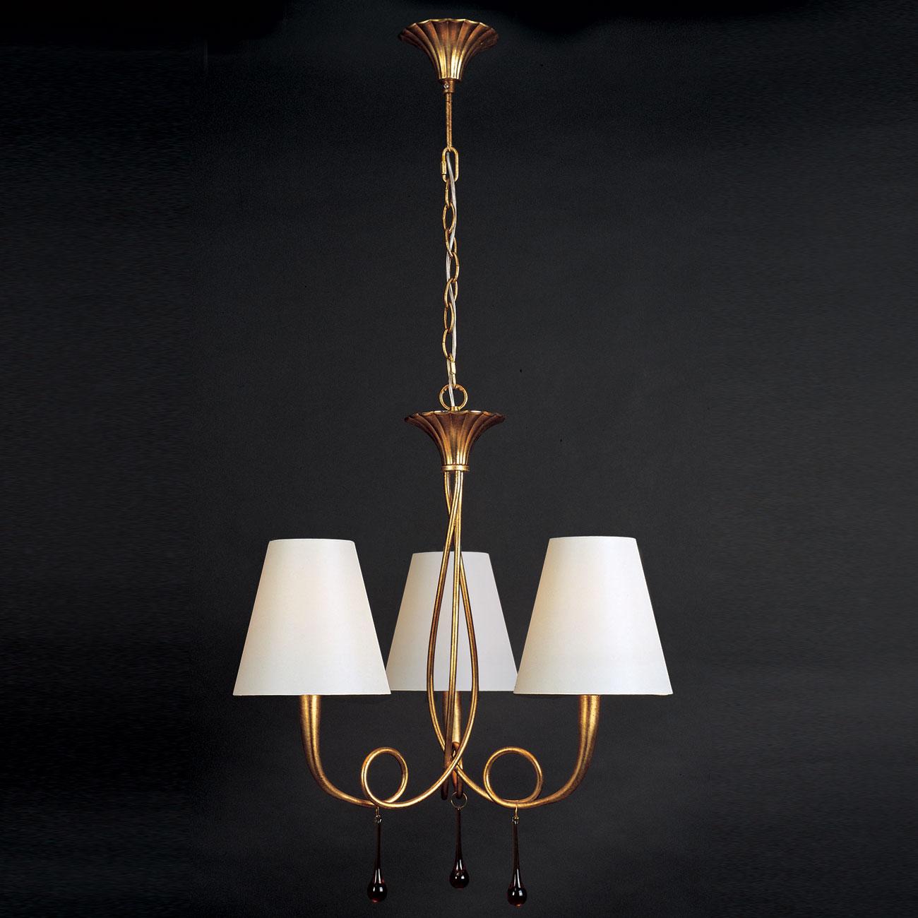 Mantra paola l mpara colgante 3xe14 40w oro 3542 - Diseno lamparas colgantes ...