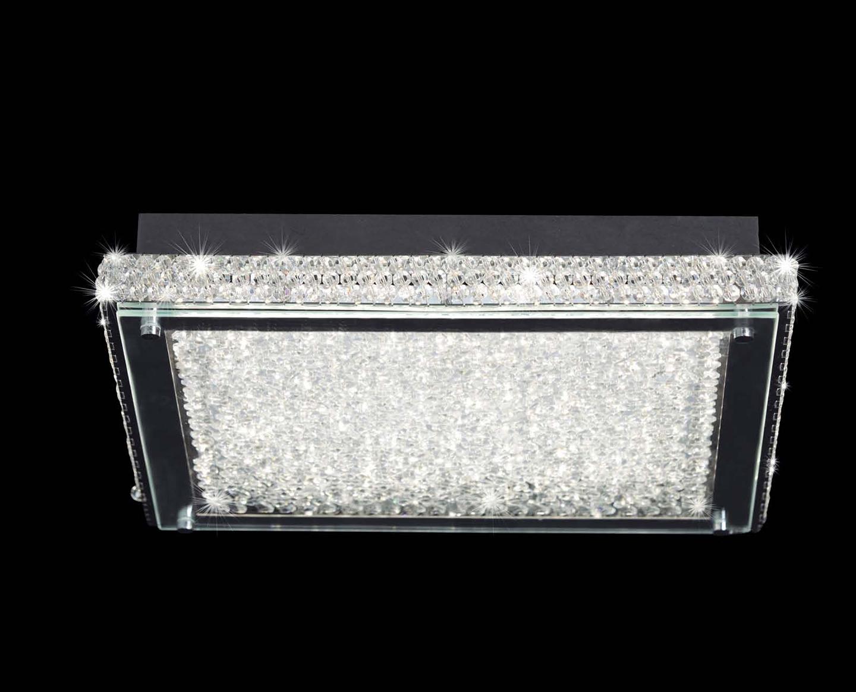Mantra mantra cristal led plaf n cuadrado 4570 l mparas - Lamparas de plafon ...