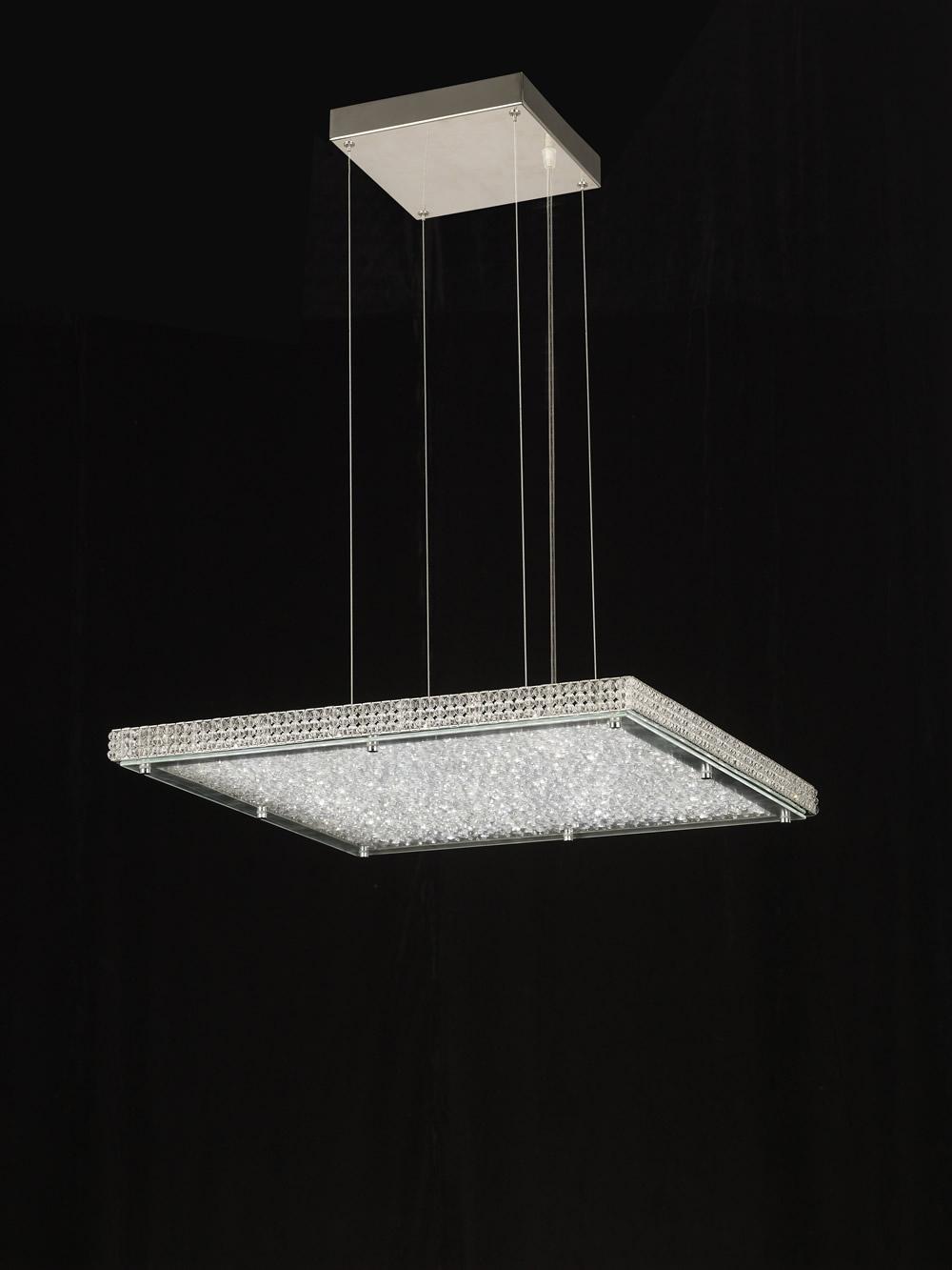 Mantra mantra glass led pendant lamp square 4573 for Suspension led design
