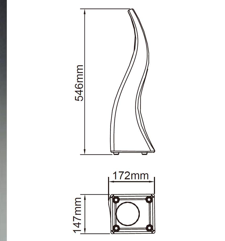 Flame Sobremesa alta Exterior inducción IP65 RGB con mando a distancia Mantra Foto