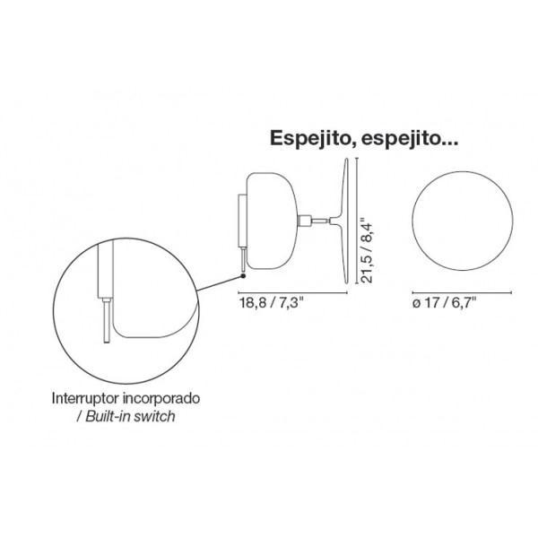 Marset espejito espejito aplique blanco a76 001 for Espejito espejito