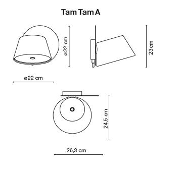 TamTam Structure base 1 for Wall Lamp Single white Marset Photo