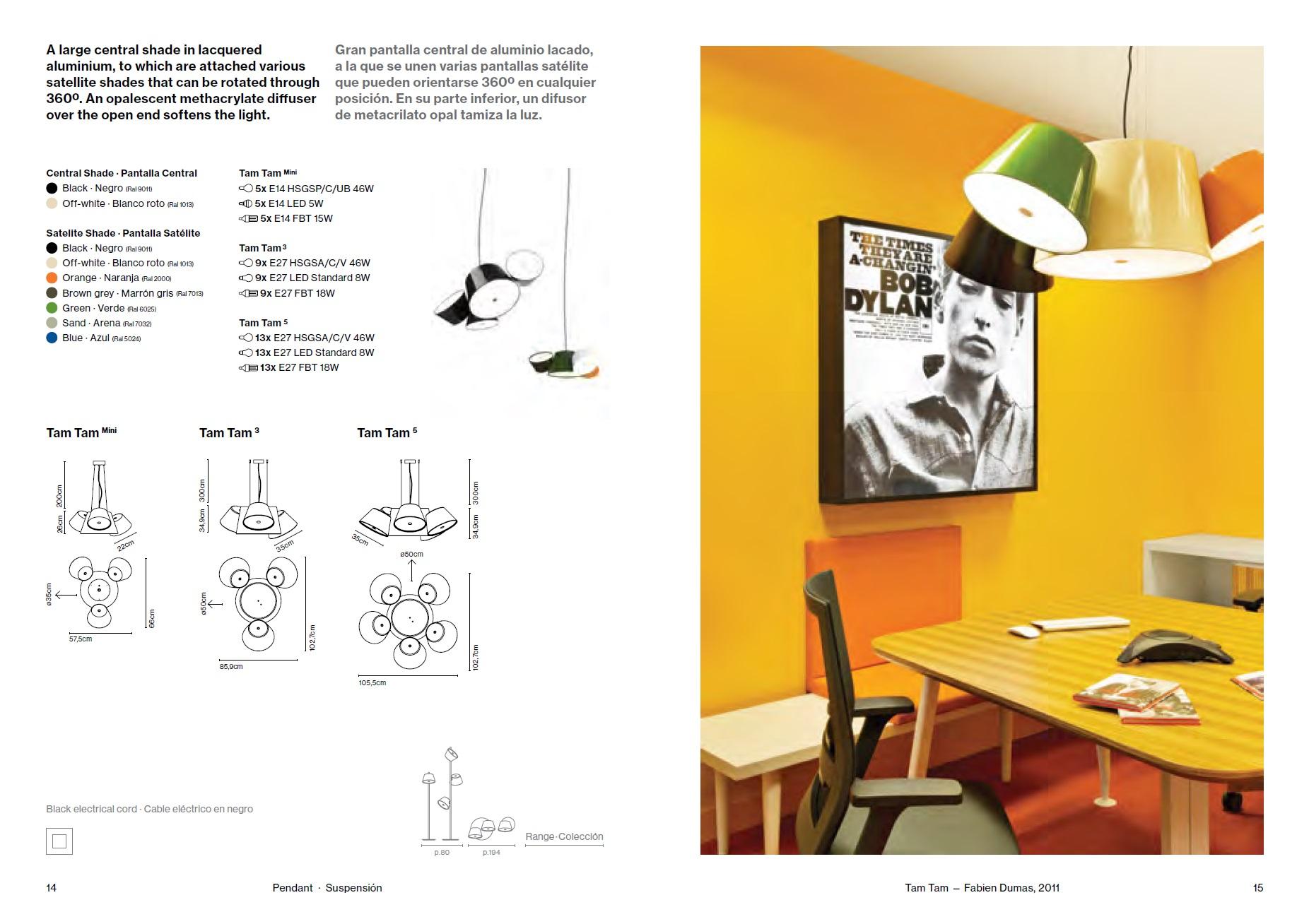 marset tam tam lampenschirm central 50cm f r a633 002 35 l mparas de dise o. Black Bedroom Furniture Sets. Home Design Ideas