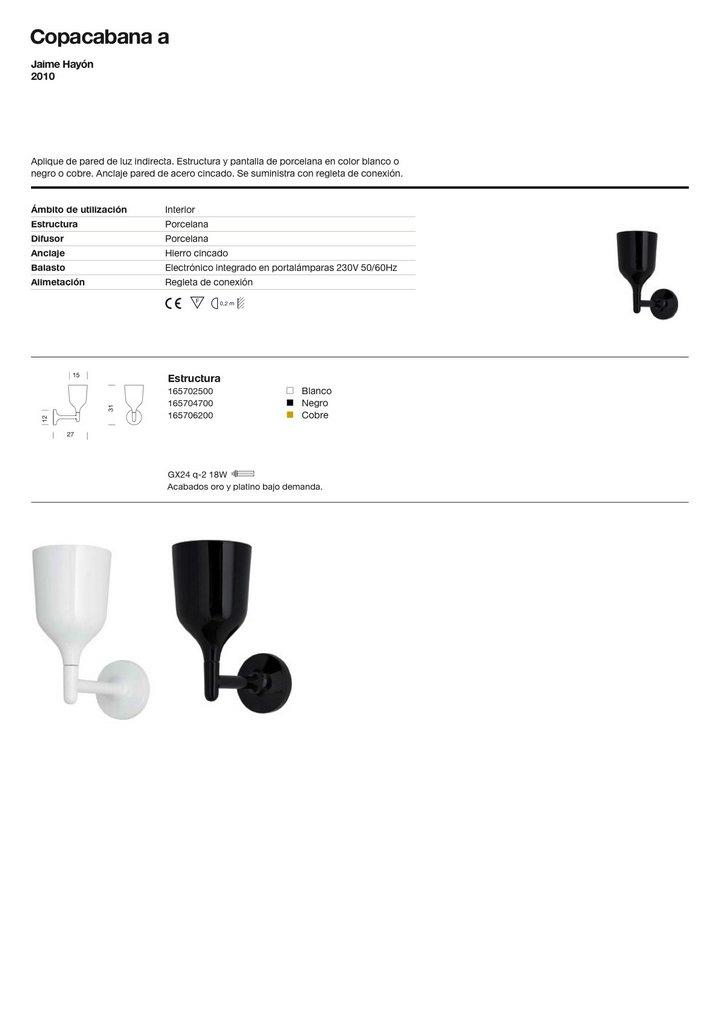 Copacabana to Wall Lamp Gx24q 2 18w porcelain white Metalarte Image