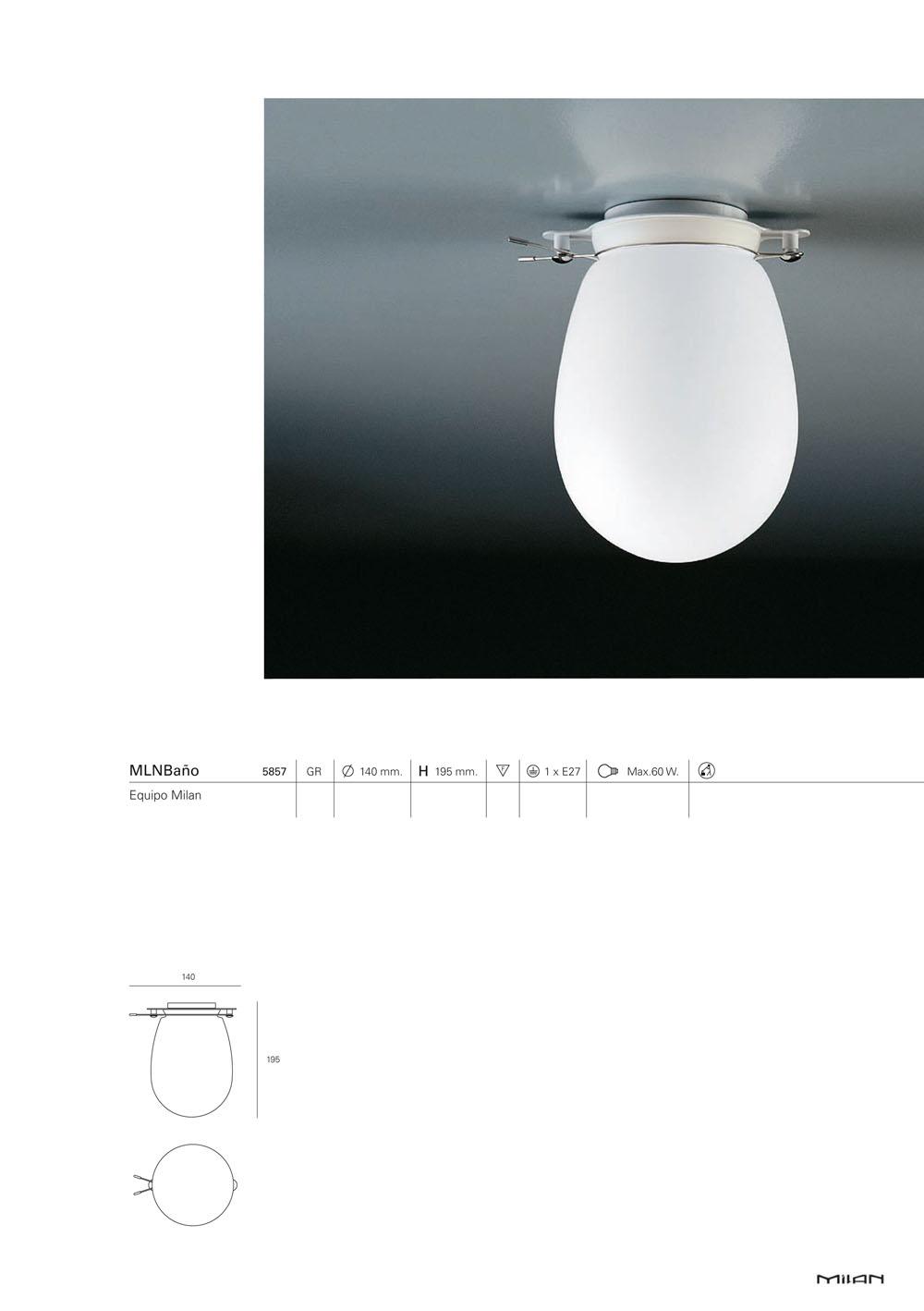 Milan iluminacion plaf n ba o 882194 l mparas de dise o - Plafon para bano ...