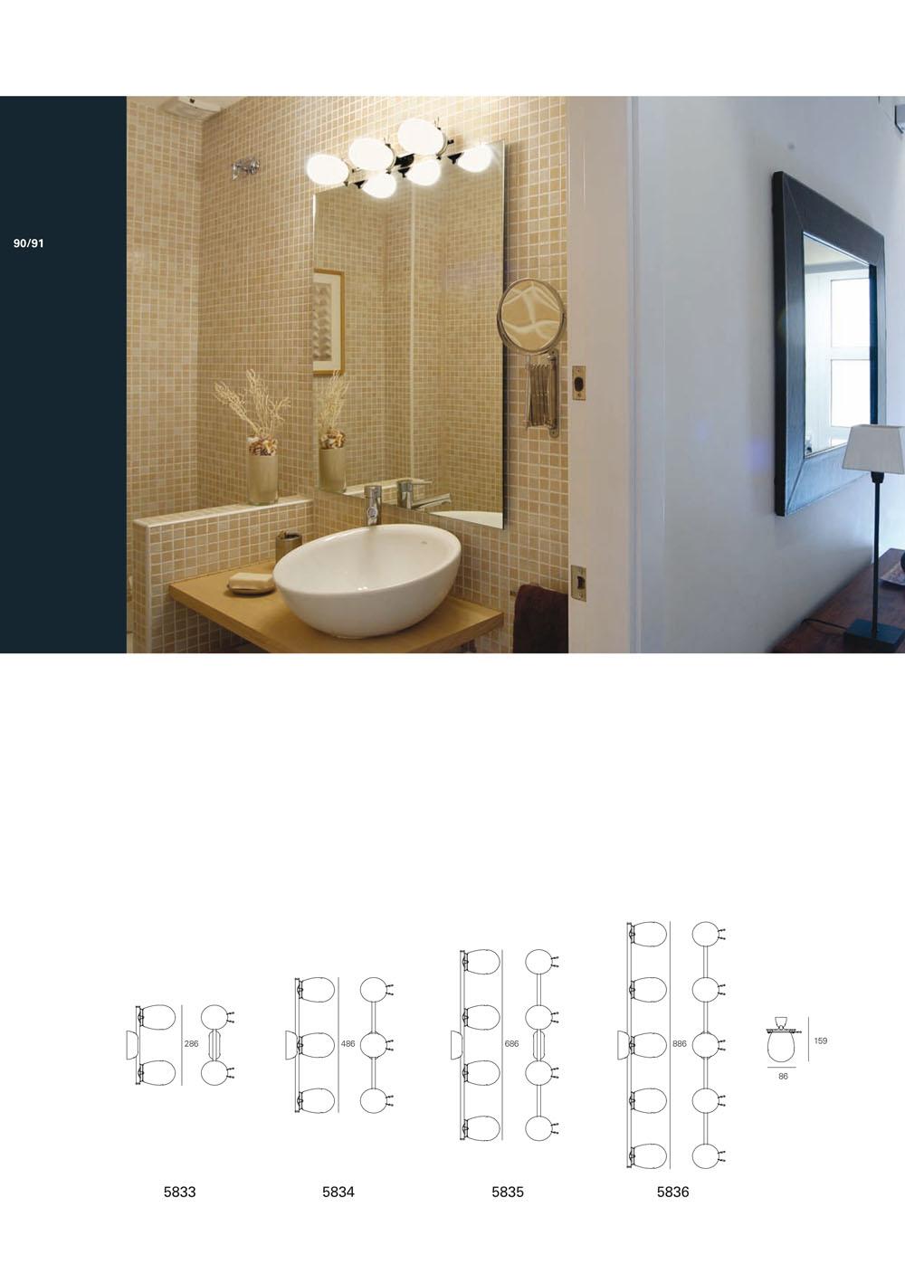 Milan iluminacion ba o aplique 3 luces aluminio anodizado for Apliques bano diseno