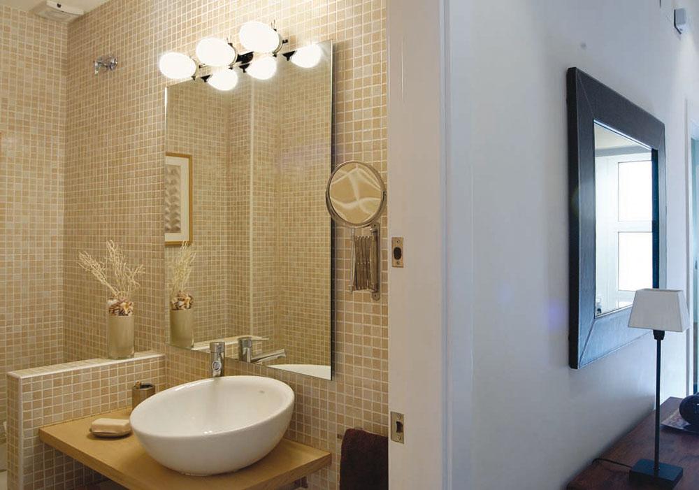 Milan iluminacion ba o aplique 4 luces aluminio anodizado - Iluminacion para el bano ...
