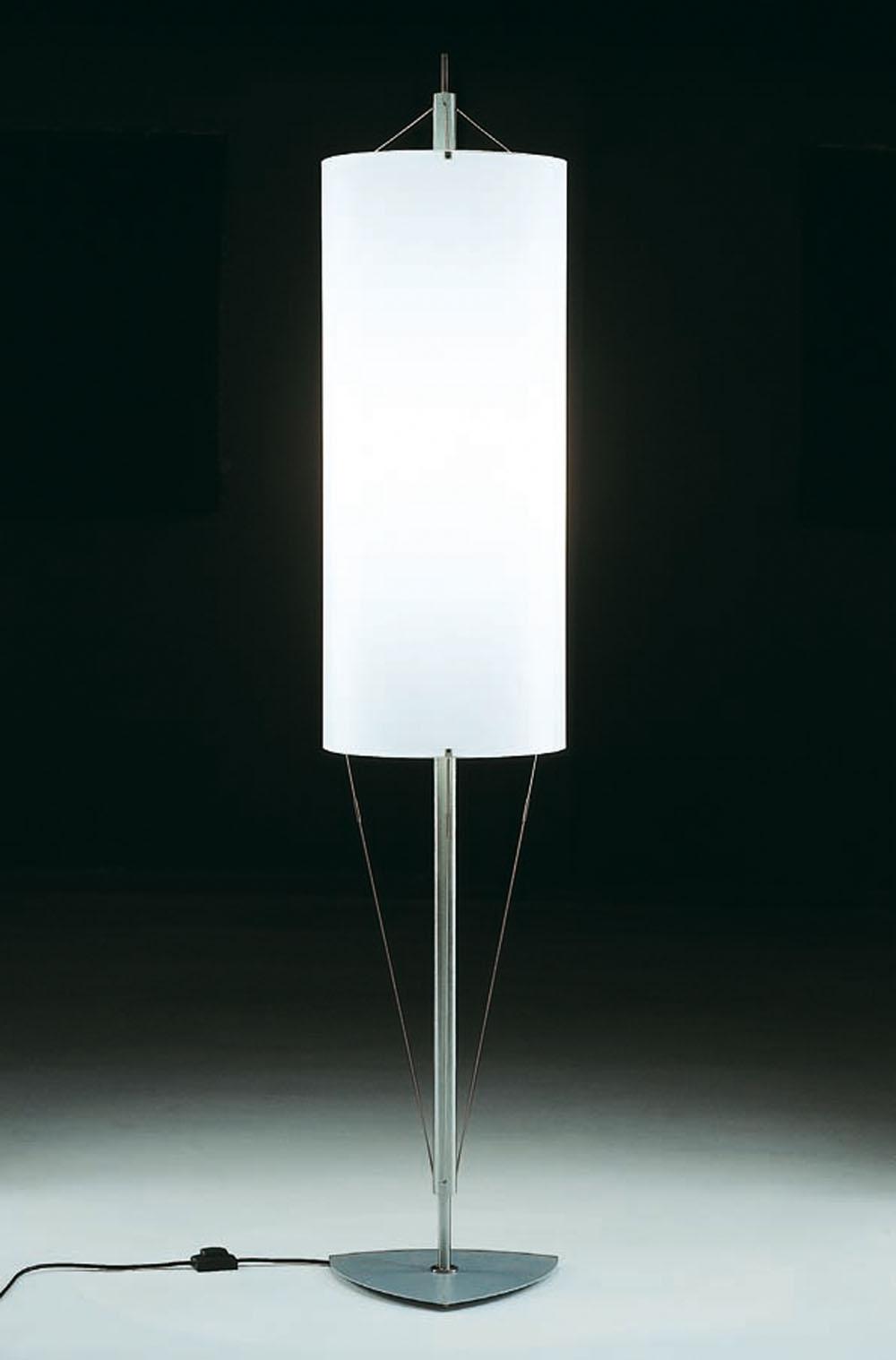Milan iluminacion pie de salon acero inoxidable 5837 - Iluminacion lamparas de pie ...