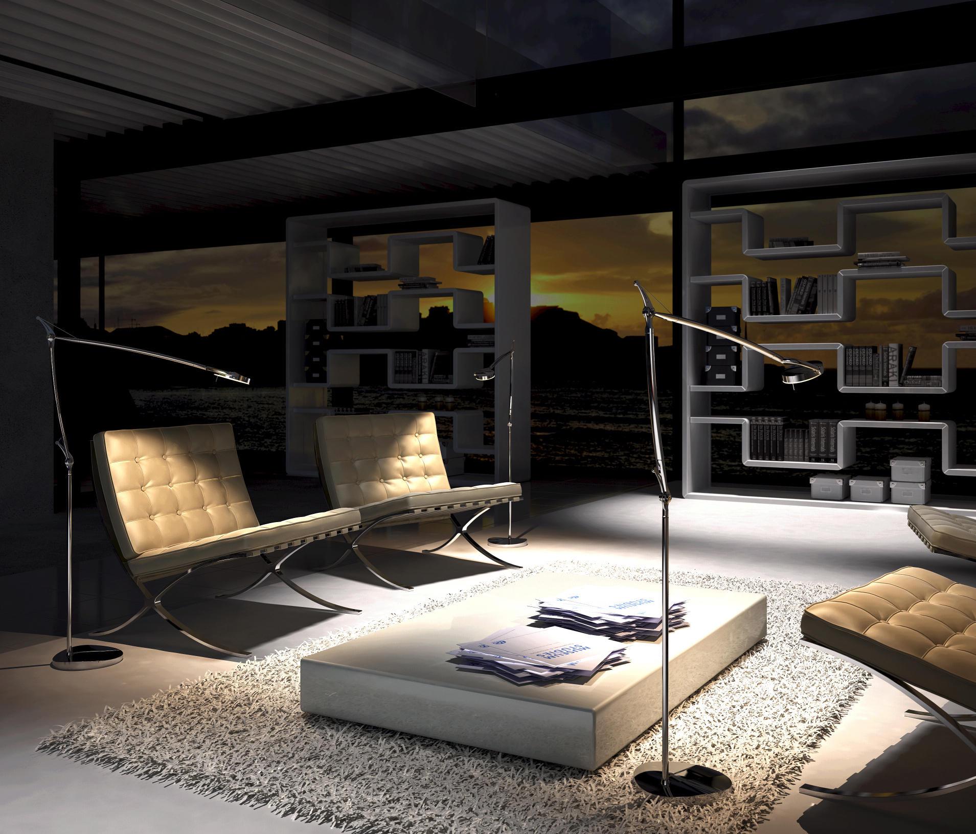 Milan iluminacion perceval l mpara de pie led 3x4w 6349 - Iluminacion de pie ...