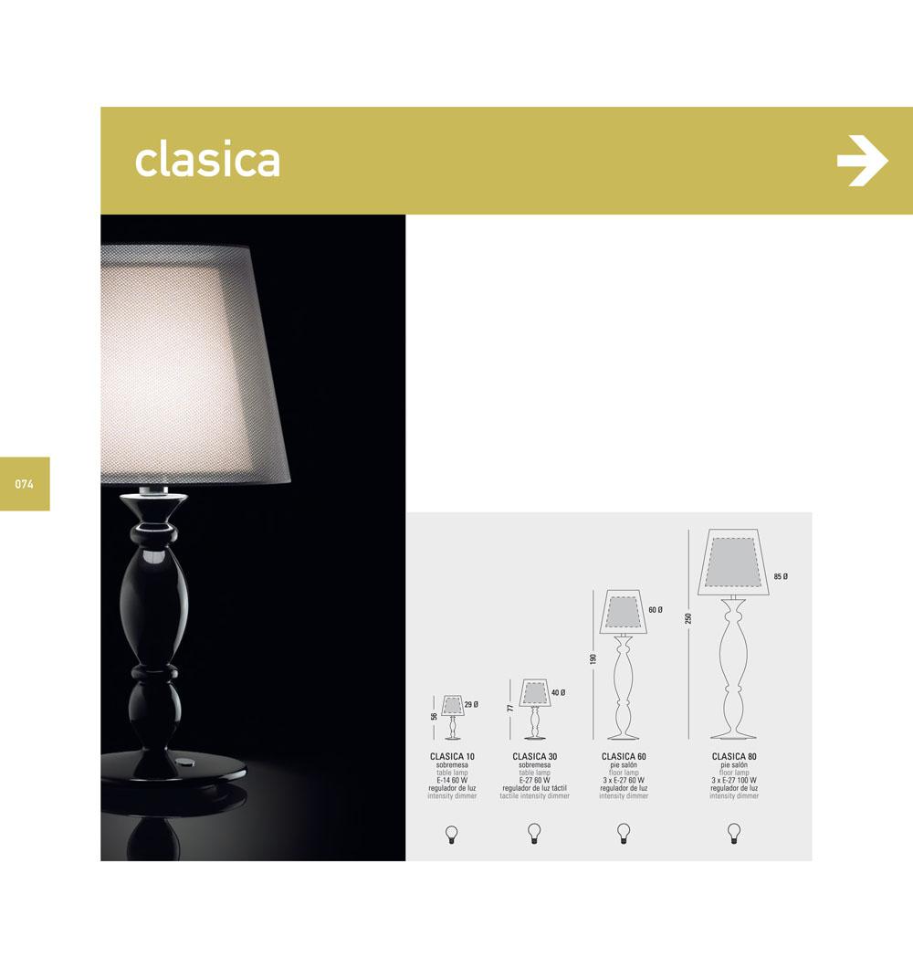 Modiss clasica 80 l mpara de pie 85cm lacado 0818374374 - Lampara de pie clasica ...